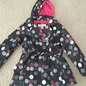 London Fog girls lined raincoat with hood